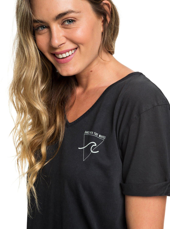 9e9d819d2b7 2 Pacific Groove Short Sleeve T-Shirt Dress Black ERJKD03256 Roxy