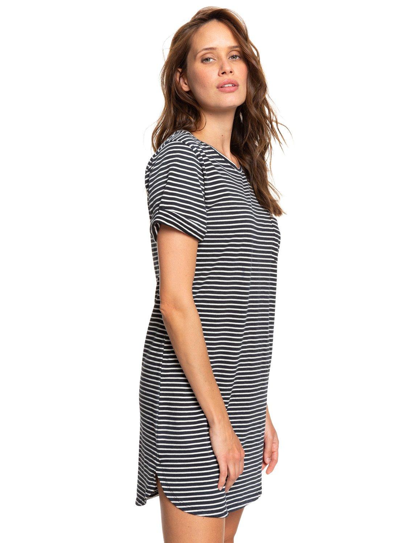 cb896b064c 1 Walking Alone Short Sleeve T-Shirt Dress Multicolor ERJKD03265 Roxy