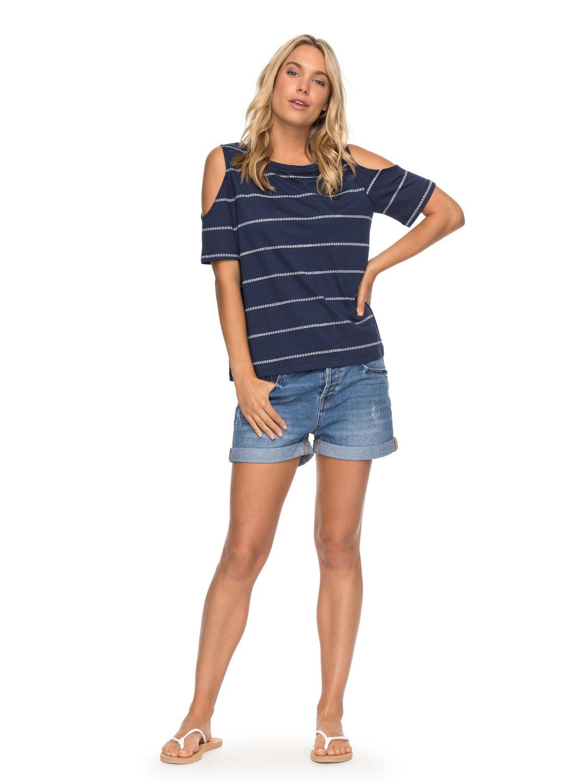 724d17831d997 1 Uptown Sun - Schulterfreies T-Shirt für Frauen ERJKT03358 Roxy