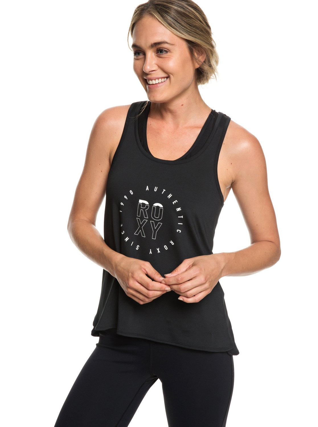 82c02415ad4780 0 Last Dance - Sports Vest Top for Women Black ERJKT03504 Roxy