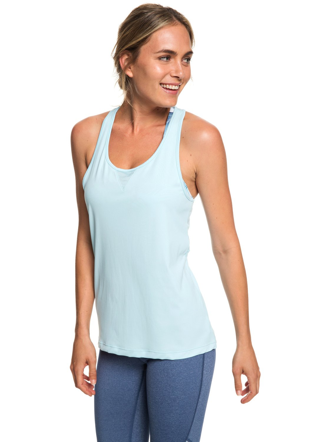 49fe6074c89ca1 0 Chasing Sunset - Racerback Running Vest Top for Women Blue ERJKT03505 Roxy
