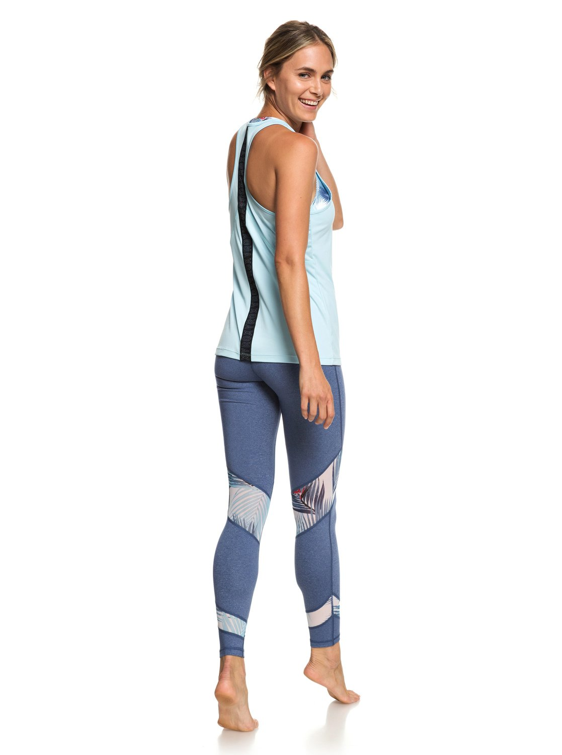 6914aa014d304e 1 Chasing Sunset - Racerback Running Vest Top for Women Blue ERJKT03505 Roxy