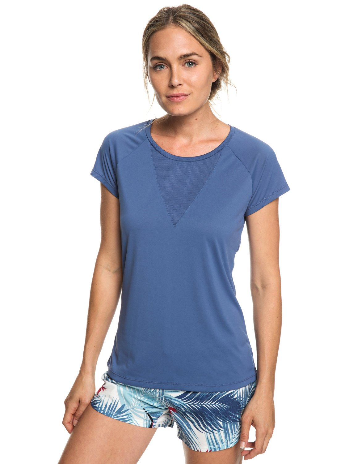 0ba3282573f2ab 0 Chasing Sunset - Running T-Shirt for Women Blue ERJKT03508 Roxy
