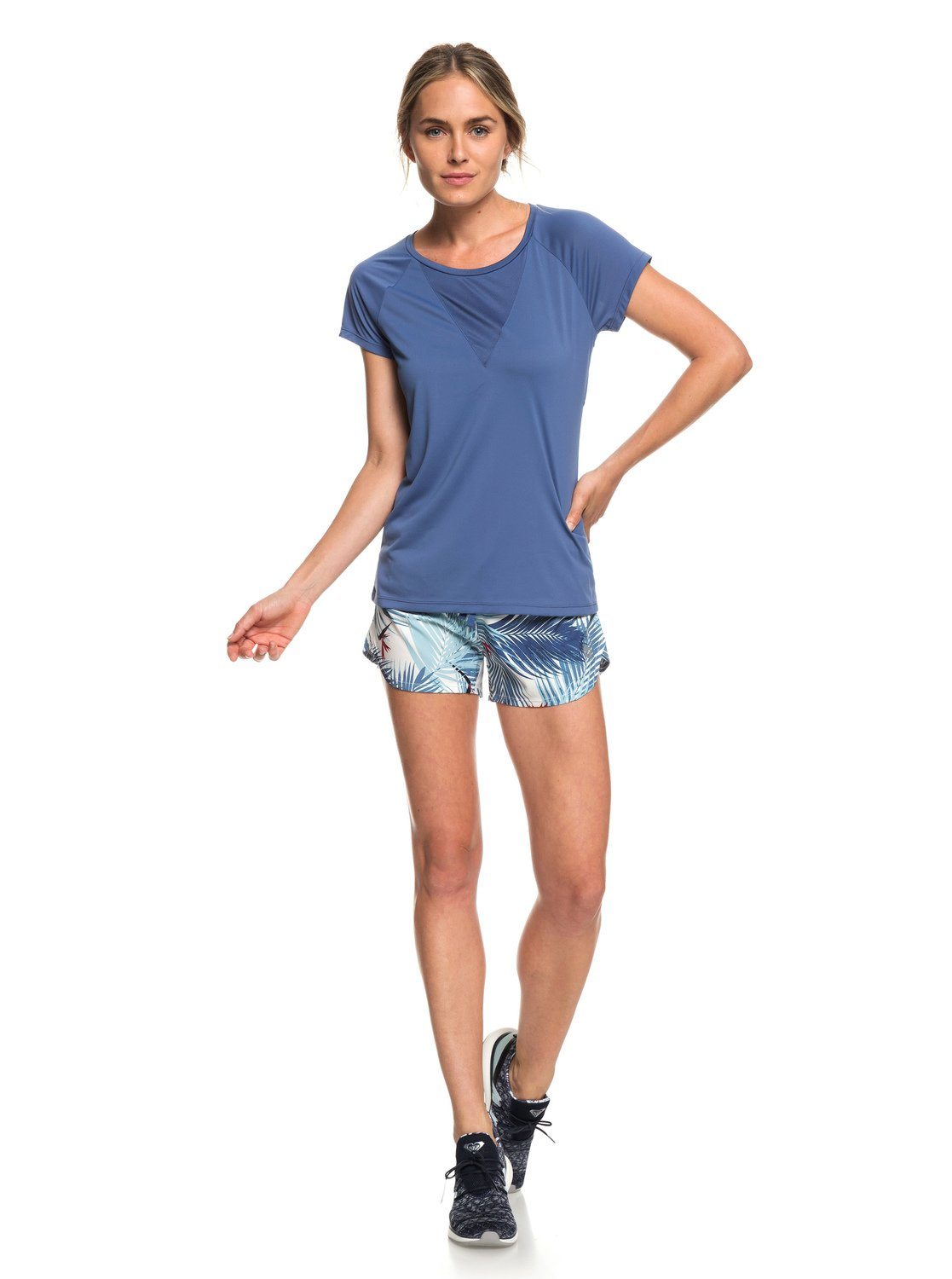 4298266fa53ae2 2 Chasing Sunset - Running T-Shirt for Women Blue ERJKT03508 Roxy