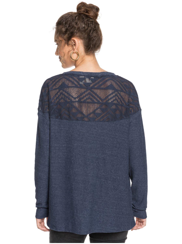 Roxy-You-Gotta-Be-Camiseta-de-manga-larga-con-cuello-en-V-para-Mujer miniatura 6