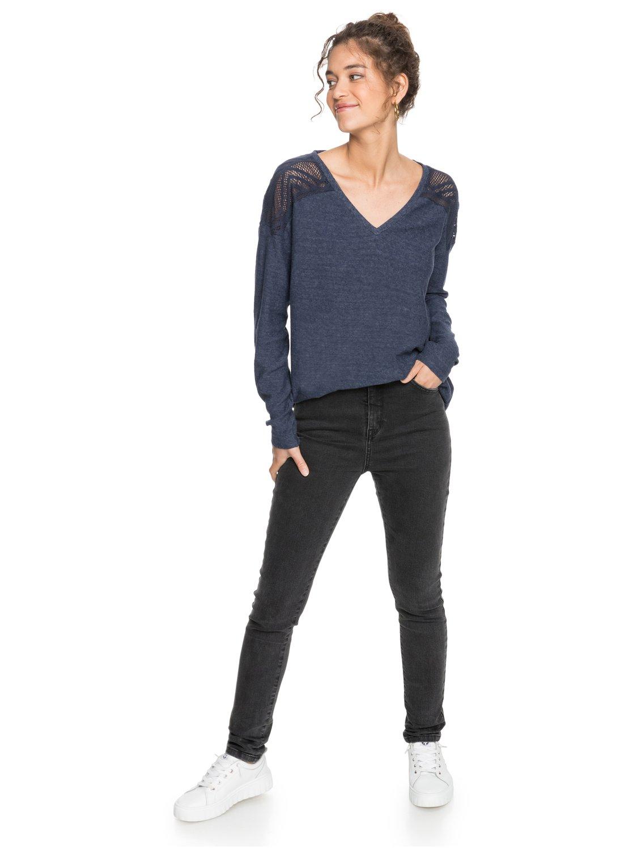 Roxy-You-Gotta-Be-Camiseta-de-manga-larga-con-cuello-en-V-para-Mujer miniatura 8