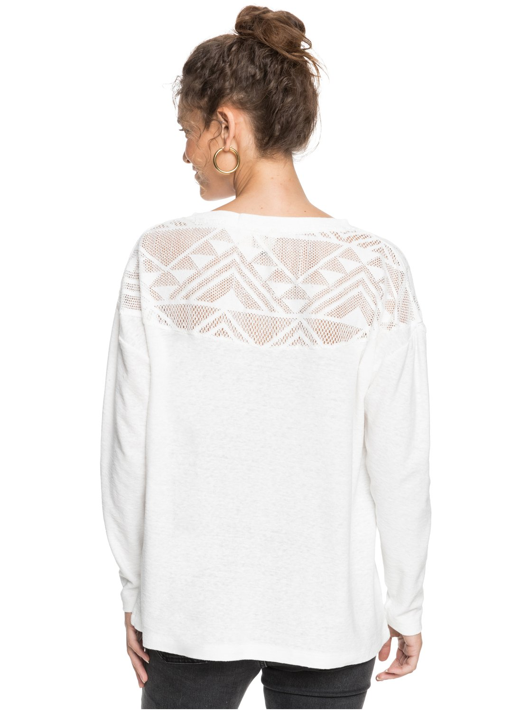 Roxy-You-Gotta-Be-Camiseta-de-manga-larga-con-cuello-en-V-para-Mujer miniatura 10