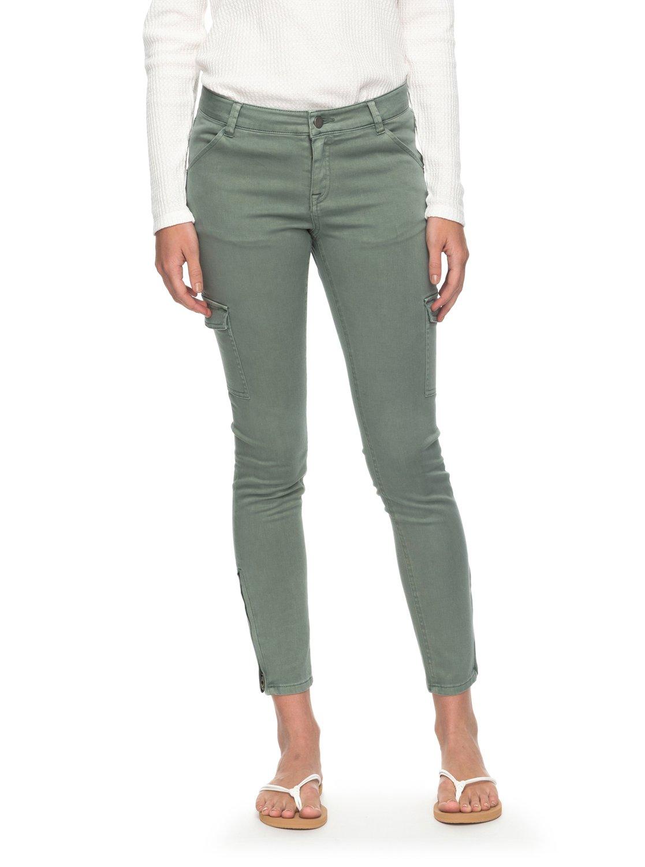 8a6804beabe83 1 Baya - Pantalon cargo coupe skinny pour Femme ERJNP03160 Roxy