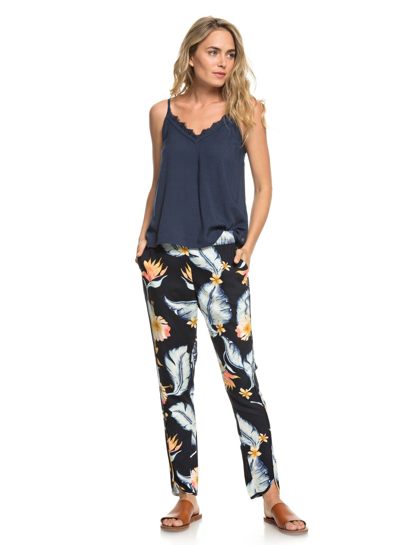 0a510c8cef2dc 0 Ocean Sailor - Viscose Trousers for Women Black ERJNP03221 Roxy