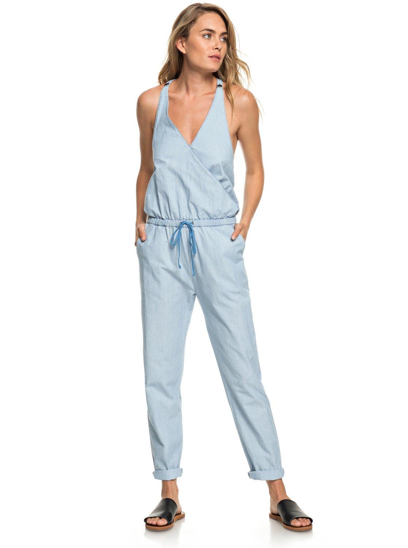 415c58a0004026 0 Pretty - Träger-Jumpsuit für Frauen Blau ERJNP03231 Roxy