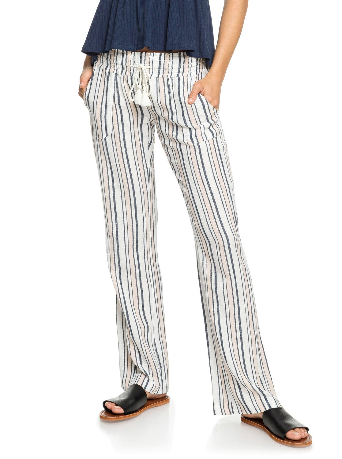 ad14ff5999 1 Oceanside Beach Pants White ERJNP03236 Roxy