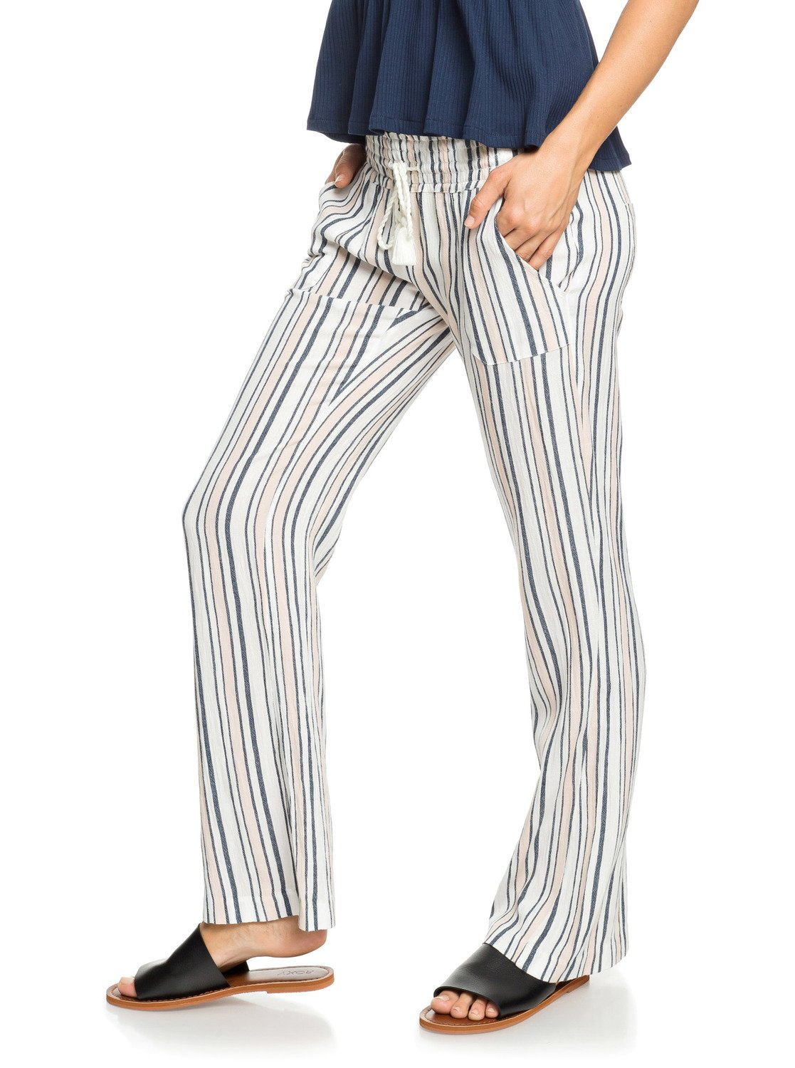 fcf1c6c683 2 Oceanside Beach Pants White ERJNP03236 Roxy