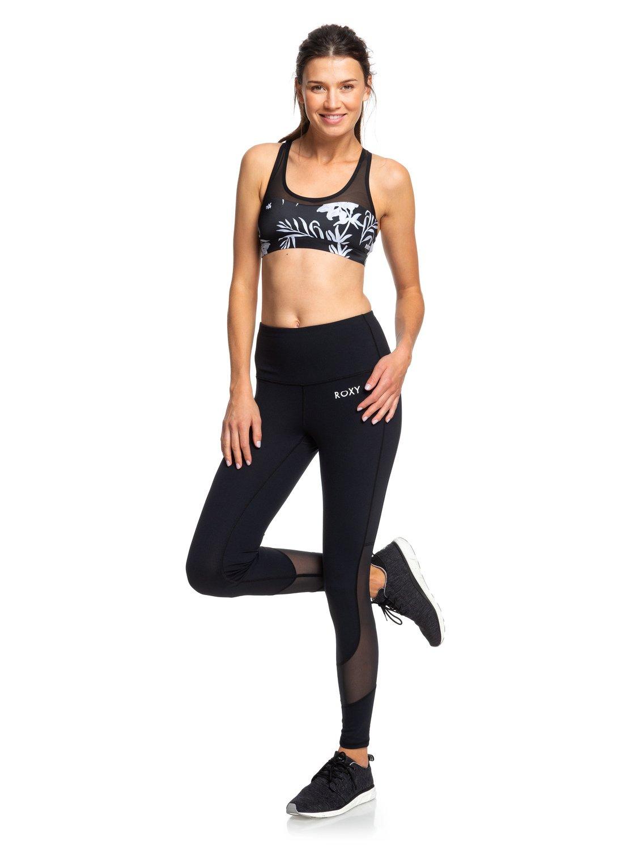 c328b0e3327831 0 Say You Say Me Yoga Capris Leggings Black ERJNP03259 Roxy