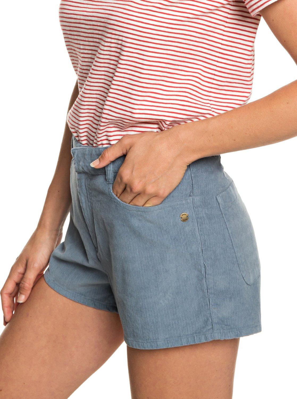 676454e66133 Boy Rules - Short de Pana con Cintura Alta para Mujer