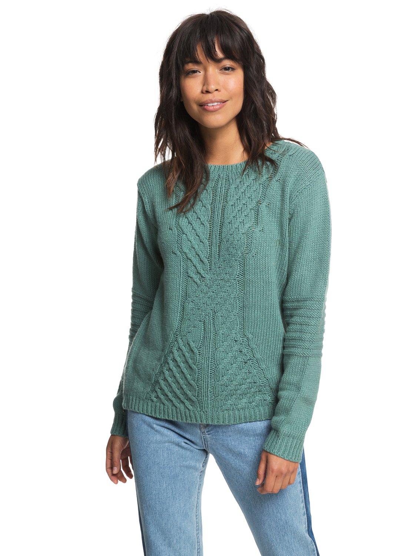 2bd566199 0 Glimpse Of Romance Sweater Blue ERJSW03276 Roxy