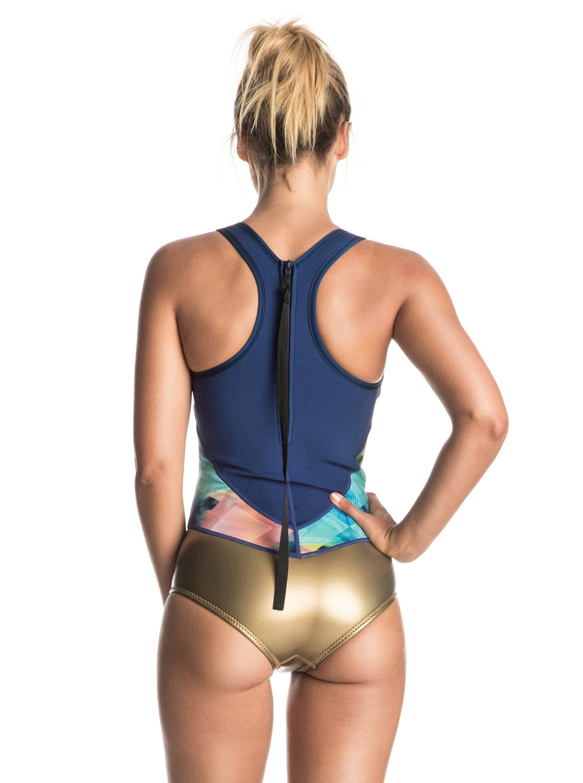 7a2905e429ebd 1 Pop Surf 1mm - Back Zip One Piece Swimsuit ERJW603009 Roxy