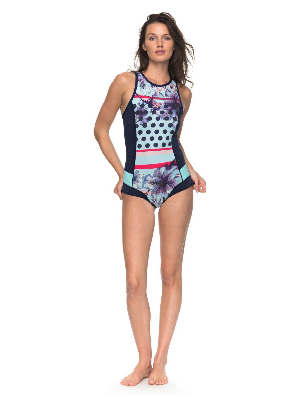 964710b7309 2 1mm POP Surf - Bañador Entero de Neopreno con Cremallera en la Espalda  para Mujer