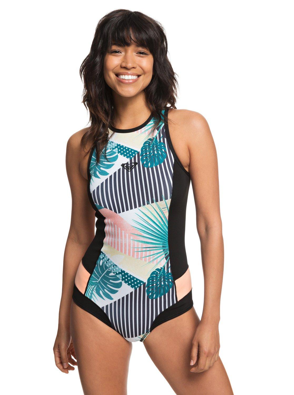 c33e613cad 0 1mm POP Surf - Back Zip Bikini Cut Shorty for Women Black ERJW603015 Roxy