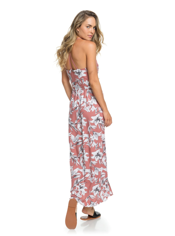 e817d39f394 0 Pavement Border Strappy Maxi Dress Pink ERJWD03242 Roxy