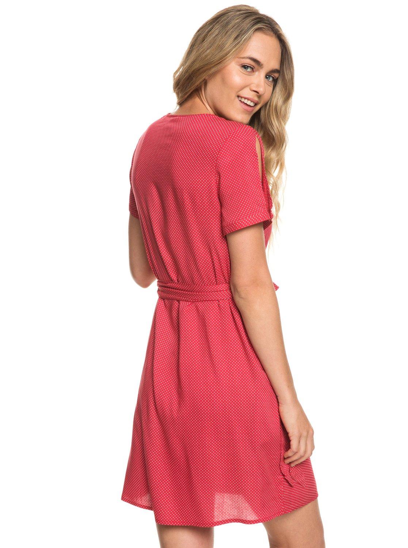 c775ea4172f 4 Monument View - Robe portefeuille manches courtes pour Femme Rouge  ERJWD03249 Roxy