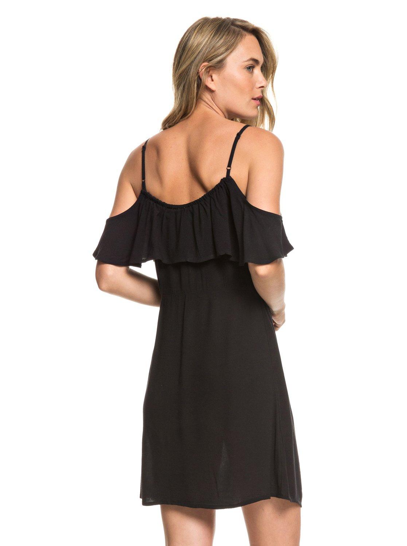 c4baa277f88 3 Hot Spring Streets Strappy Dress Black ERJWD03295 Roxy