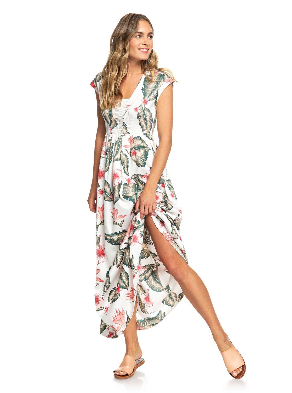 5b852aaa4bcc48 3 A Day At Tribeca - Sleeveless Maxi Dress for Women White ERJWD03306 Roxy