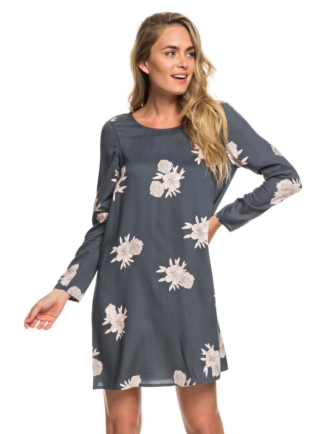 f6d8d4f56600 0 Seaside Sense - Long Sleeve Dress for Women ERJWD03311 Roxy