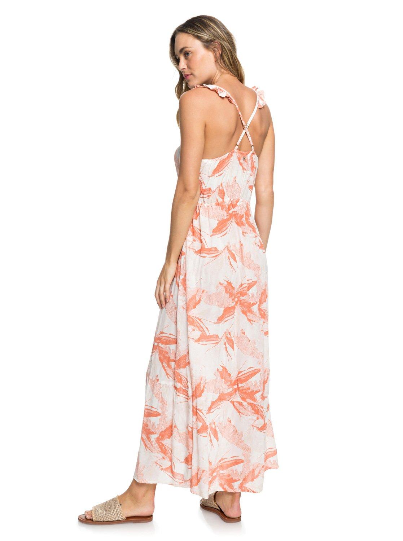 a47791e1752 5 Hot Summer Lands Button-Through Strappy Maxi Dress White ERJWD03337 Roxy