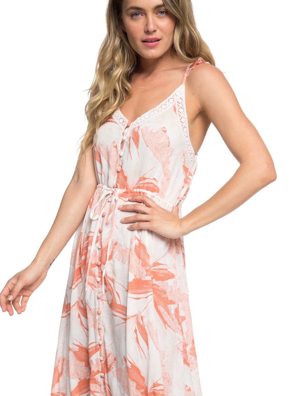 02550d65da7 2 Hot Summer Lands Button-Through Strappy Maxi Dress White ERJWD03337 Roxy