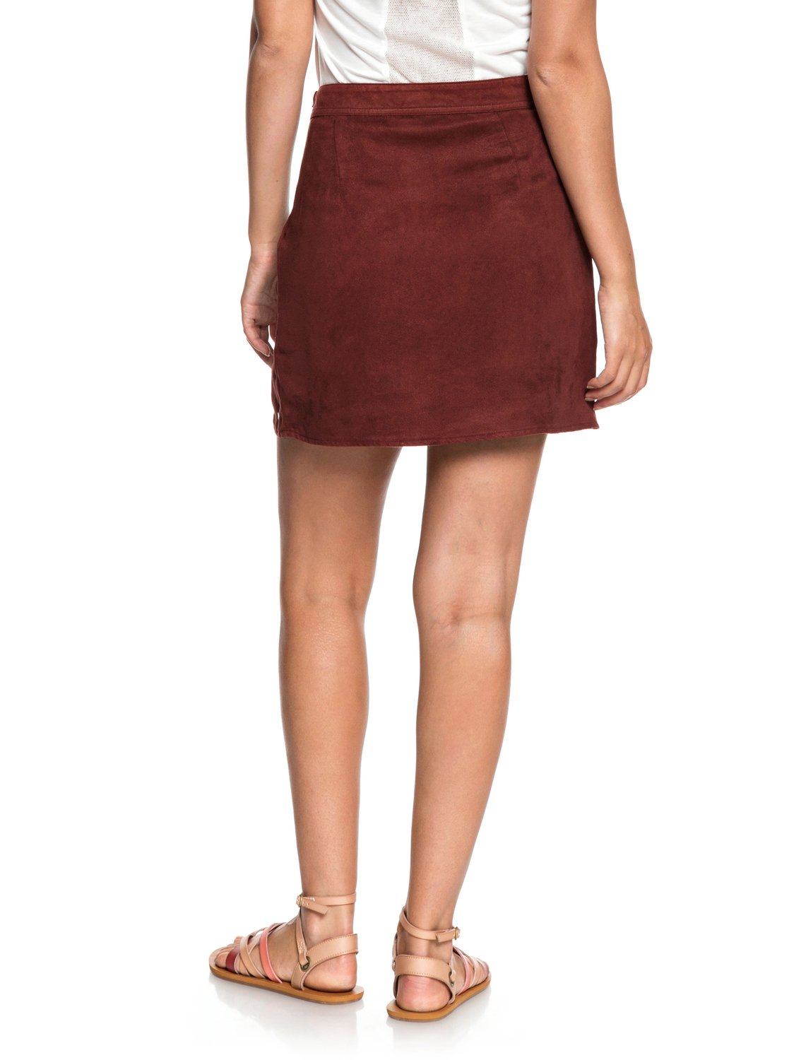 3f646be56 3 The Cactus Chronicle Faux Suede Skirt Red ERJWK03039 Roxy