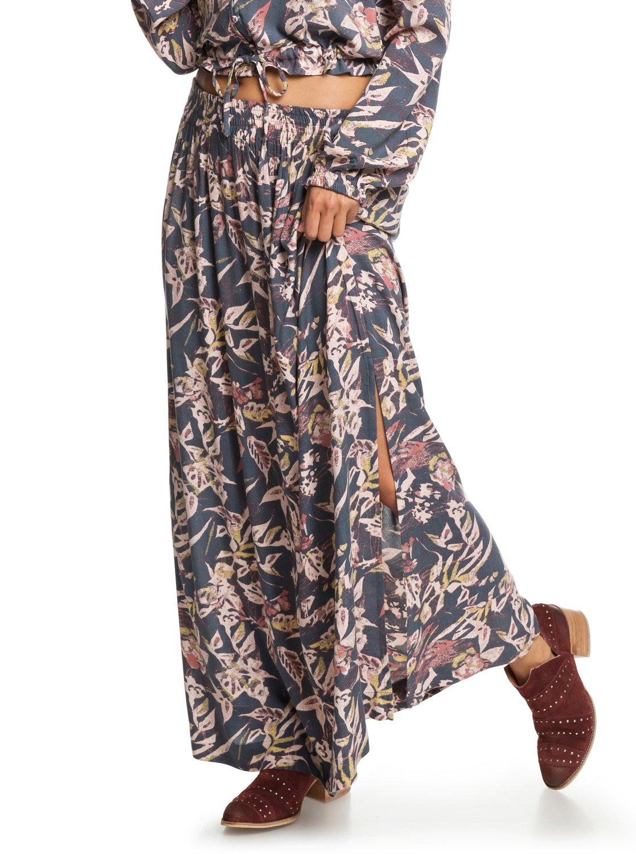 d52ba7255c7f 1 Last Forever Maxi Skirt Black ERJWK03043 Roxy