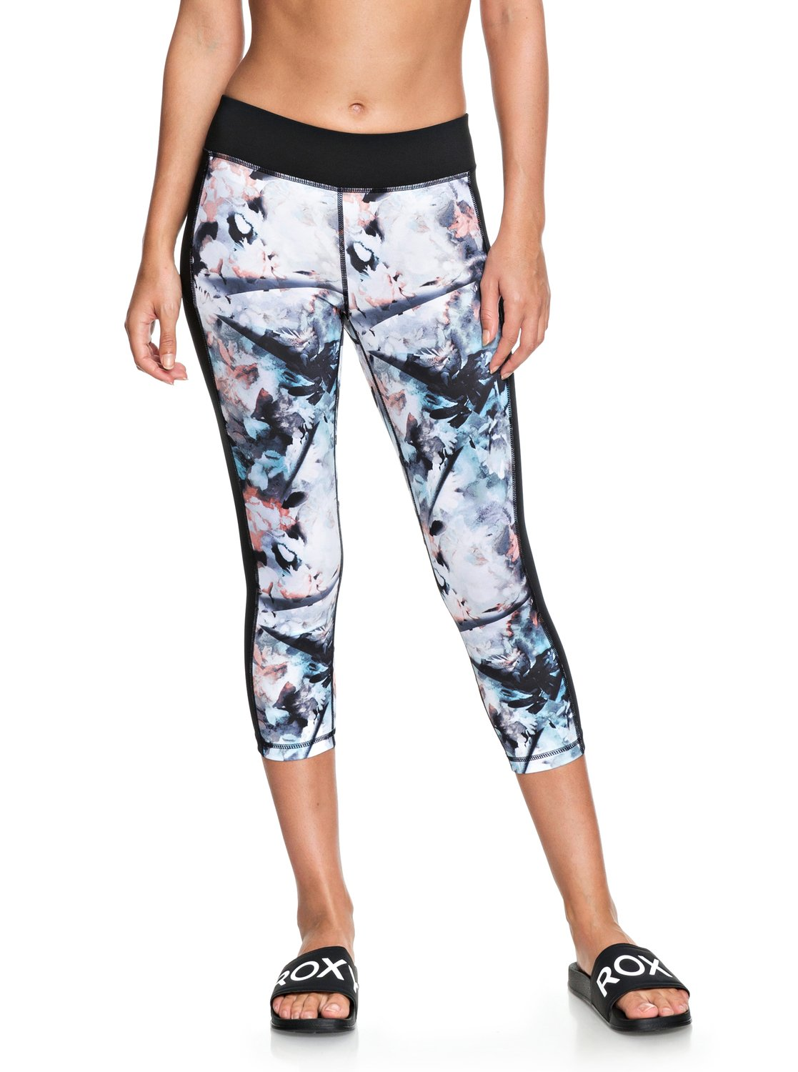 b0a1941065 1 Spy Game Technical Capri Leggings Blue ERJWP03018 Roxy