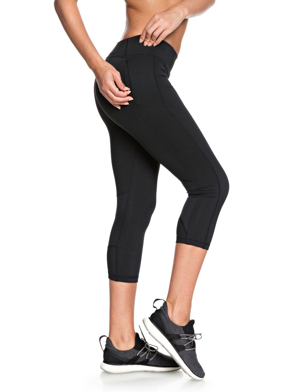 3144866d50f89 2 Spy Game - Technical Capri Leggings for Women Black ERJWP03018 Roxy