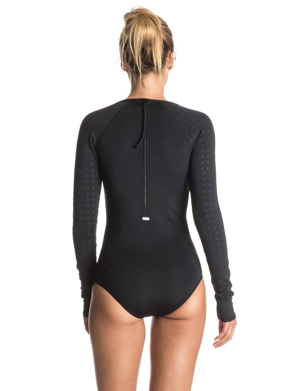 49eb2f5e72d8e 2 Pop Surf Long Sleeve One Piece Swimsuit ERJWR03072 Roxy
