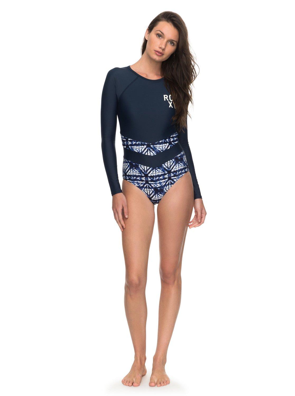 b7c8311a2f 1 ROXY Fitness Long Sleeve One-Piece Swimsuit ERJWR03214 Roxy