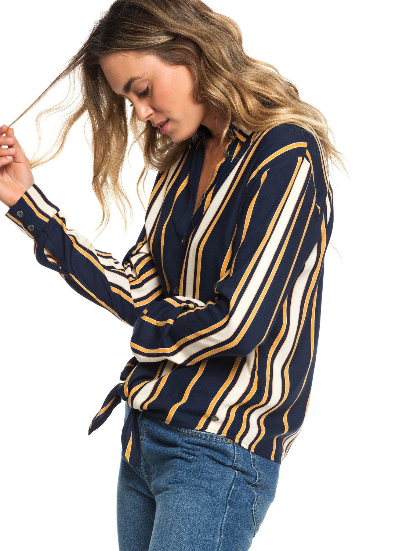 2f3da885c7b44 1 Suburb Vibes - Camisa de Manga Larga para Anudar en la Parte Delantera para  Mujer