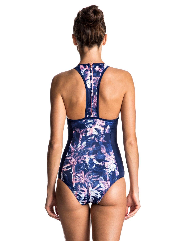 2cf128831b0ef 1 Keep It ROXY Back Zip One Piece Swimsuit ERJX103060 Roxy