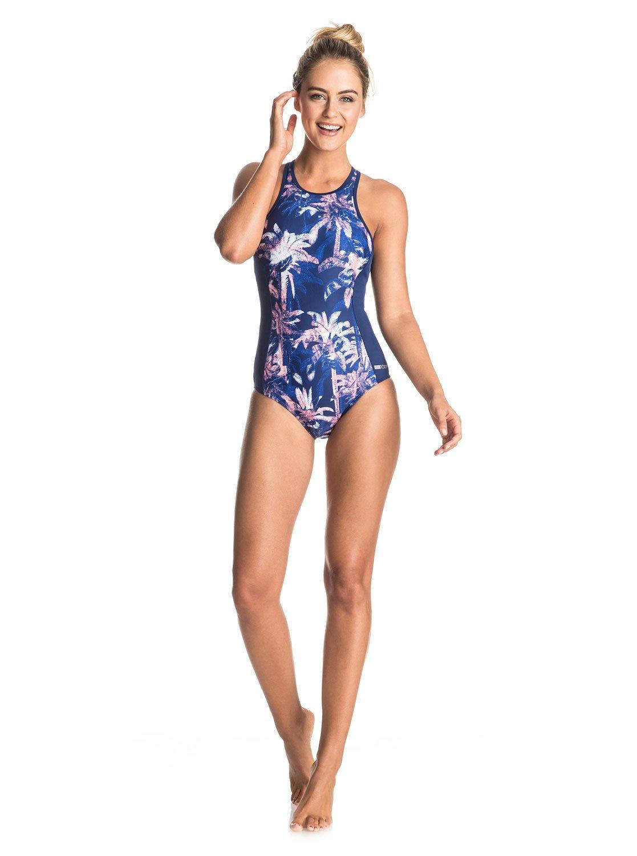 38df4074469a6 2 Keep It ROXY - Back Zip One-Piece Swimsuit ERJX103060 Roxy