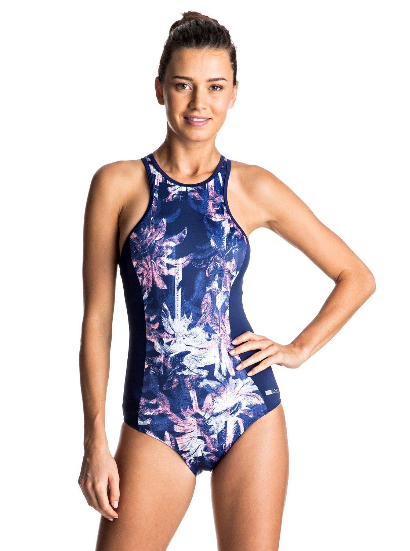 724079f49c8fc 0 Keep It ROXY Back Zip One Piece Swimsuit ERJX103060 Roxy