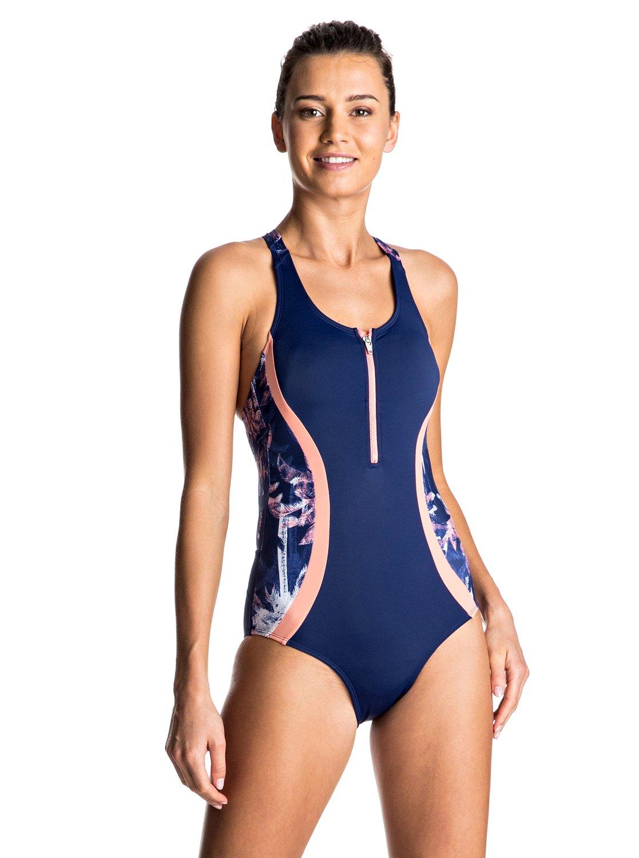 d46fc6c684f23 0 Keep It ROXY - Zip Front One-Piece Swimsuit ERJX103061 Roxy