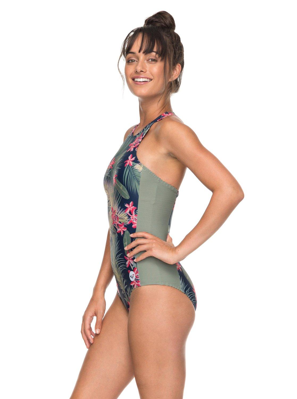 a1d75d3336 1 ROXY Fitness One-Piece Swimsuit Blue ERJX103110 Roxy