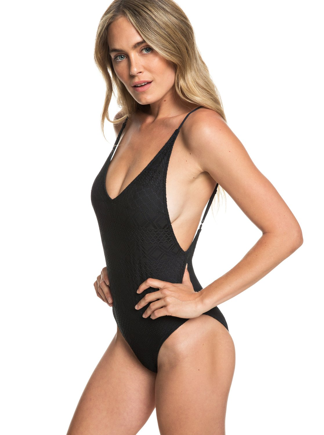 cc63754f0b 0 Garden Summers - One-Piece Swimsuit for Women Black ERJX103167 Roxy