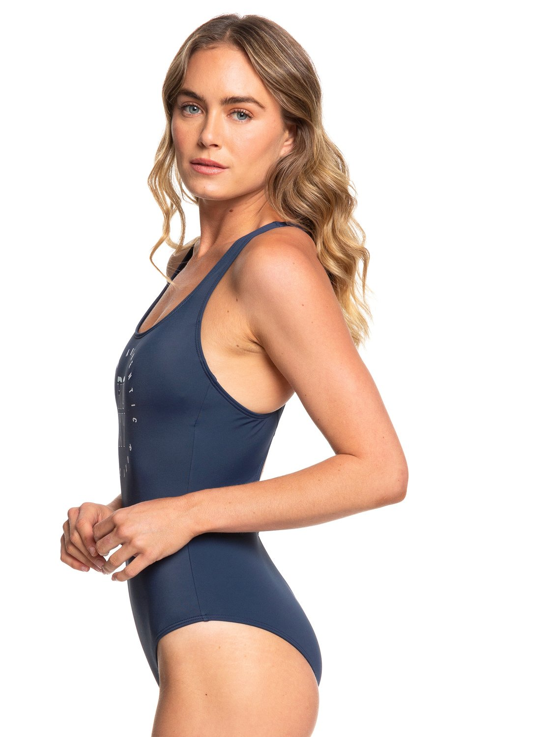 68e55315e5 1 ROXY Fitness - One-Piece Swimsuit for Women Blue ERJX103168 Roxy