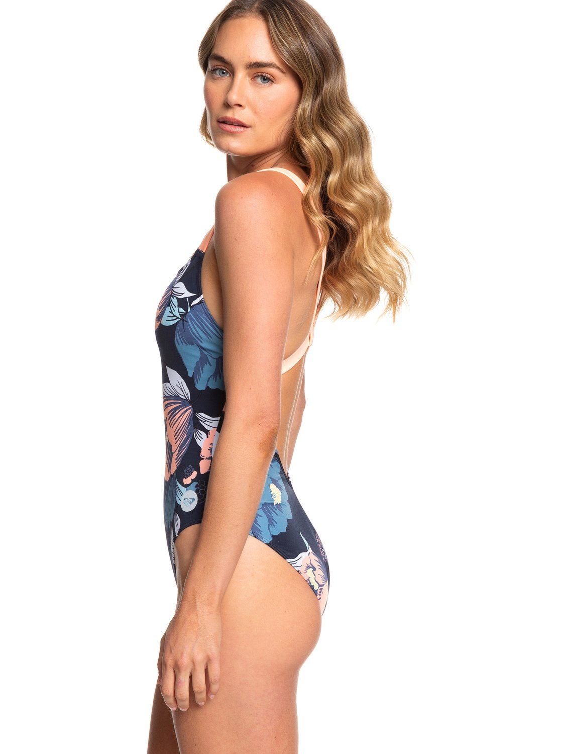 d791efebe9 1 ROXY Fitness One-Piece Swimsuit Blue ERJX103169 Roxy