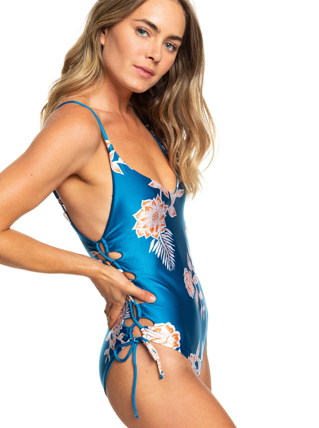 dc81ac029d 0 Riding Moon One-Piece Swimsuit Blue ERJX103182 Roxy
