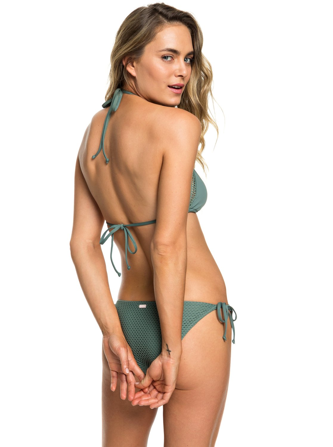 01ffda5345 3 Garden Summers - Triangle Bikini Set for Women Green ERJX203338 Roxy