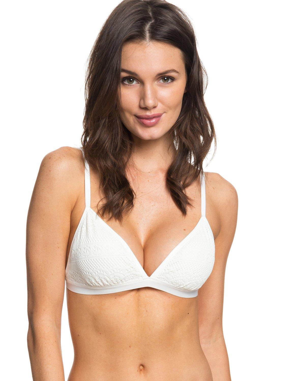 306a28758e9aa Roxy™ Surf Memory - Fixed Tri Bikini Top - Women - M - White
