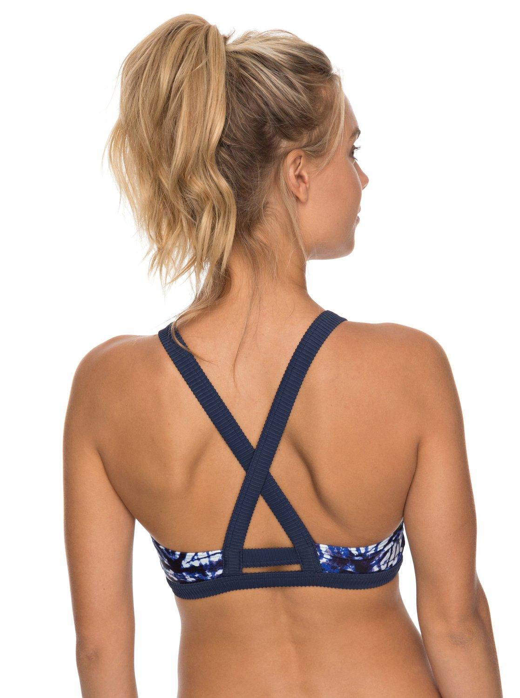 cdb353f04b854 2 ROXY Fitness Bikini Top Blue ERJX303623 Roxy