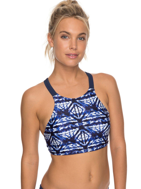 30339a4b13193 0 ROXY Fitness Bikini Top Blue ERJX303623 Roxy