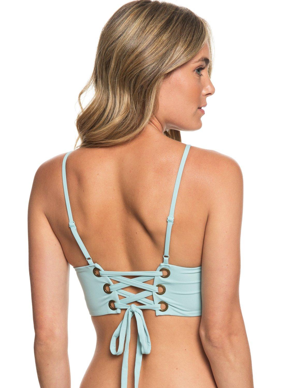 0b2cd36c77a 3 Beach Classics Crop Top Bikini Top Blue ERJX303836 Roxy